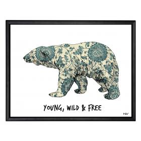 Picture with frame - Polar bear - Small