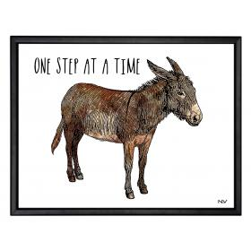 Picture with frame - Donkey - Small