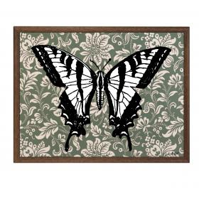 Picture with frame - Butterfly - Large