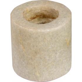 Mramorový držiak na sviečku v jednoduchom dizajne - biely