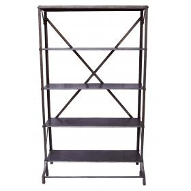 Iron rack in industrial style - shiny