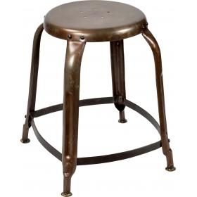 Stool with cool vintage look - clear powder coated
