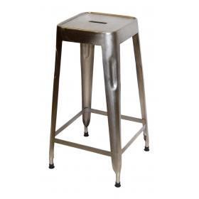 Bar stool in iron - shiny