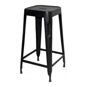 Barová stolička - čierna vysoká