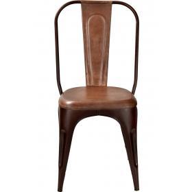 Stolička s koženým poťahom