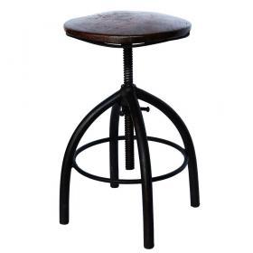 Otočná stolička - tmavohnedá