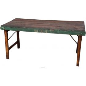 Wooden dining table with patina