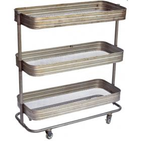 Iron Trolley with clear lacquer