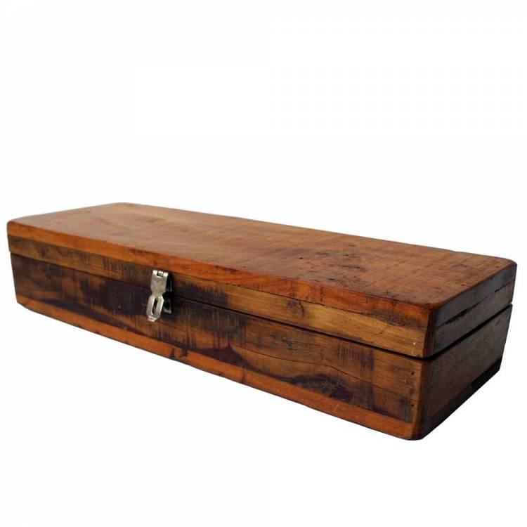 Uzamykateľná drevená krabica