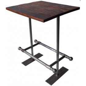 Barový stolík v industriálnom štýle