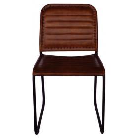 Kožená jedálenská stolička