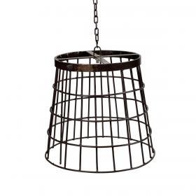 Železná závesná lampa