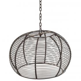Kovová stropná lampa