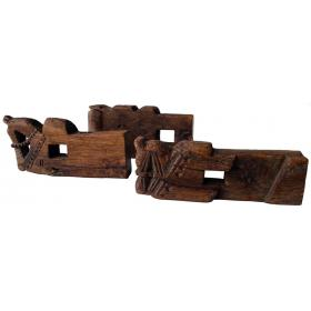 Carved wooden horses