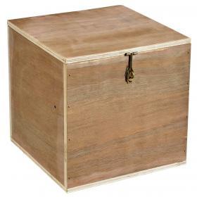 Drevená krabica s vekom