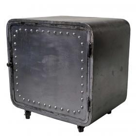 Metal cabinet on wheels