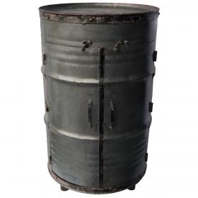 Cabinet made of metal barrel