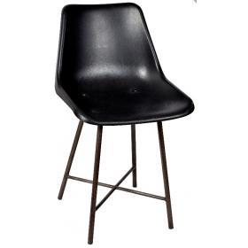 Plastovo kovová stolička