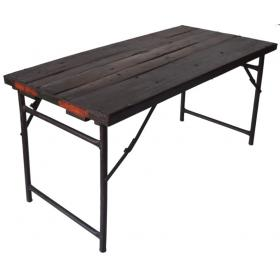 Wooden dining table - metal legs | Vintage furniture | Canapé