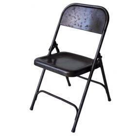 Sivá skladacia stolička