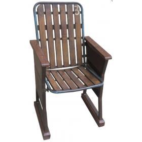 Kino sedadlo z dreva a kovu
