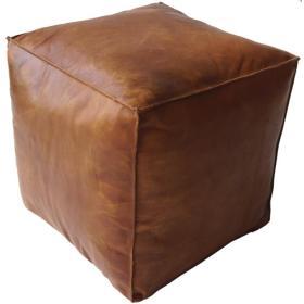 Kožená taburetka