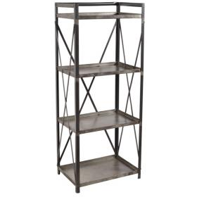 Metal rack with 4 shelves
