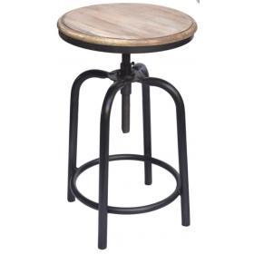 Otočná stolička s dreveným sedadlom