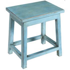 Blauer Holzstuhl