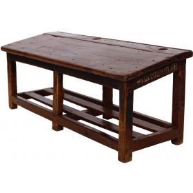 Drevená školská lavica