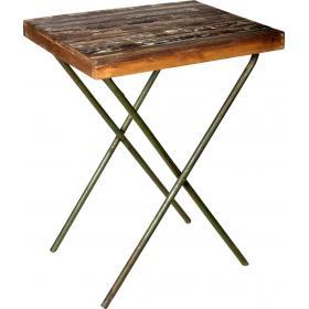 Kávový stolík z dreva a kovu