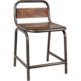 Dining chair made of wood and metal