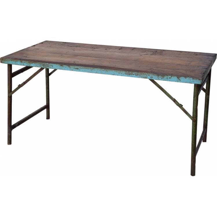 New Wooden Dining Table With Metal Frame
