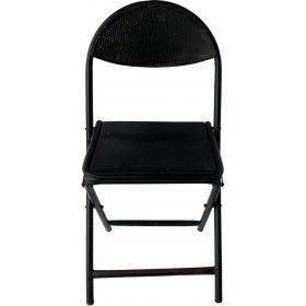 Klappstuhl aus schwarzem Metall