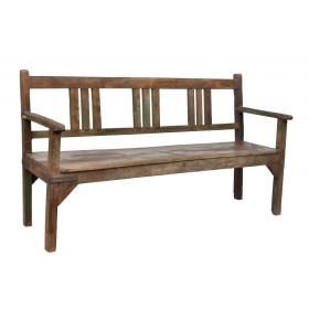 Drevená lavica s operadlom