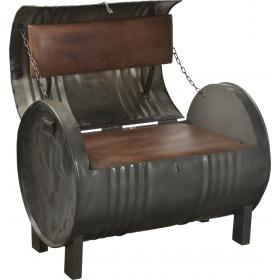 Barrel shaped lounge sofa