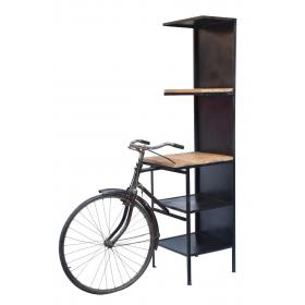 Rack with bicycle front