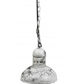 Biela kovová závesná lampa
