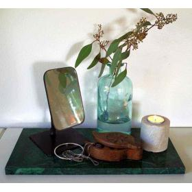 Recyklované stolové zrkadlo z TukTuks - čierny rám