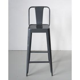 Bar stool in iron - antique white