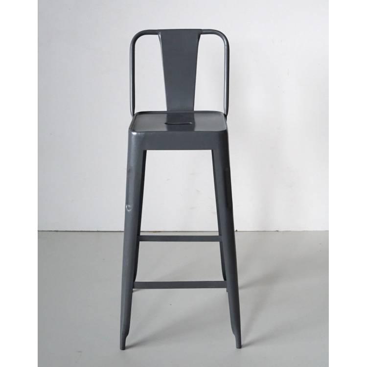 Bar stool in iron - antique white
