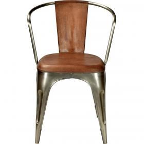Jedálenská stolička s koženým čalúnením