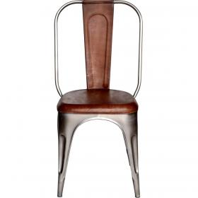 Cool Stuhl mit Leder - glänzend
