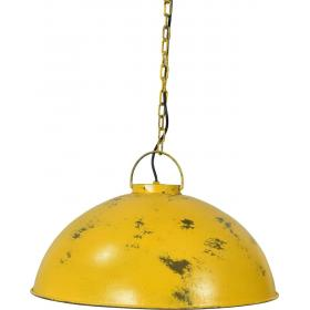 Pendant lamp, industrial style - yellow