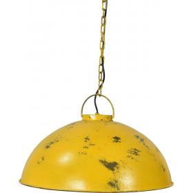Závesná lampa industriálneho štýlu - žltá