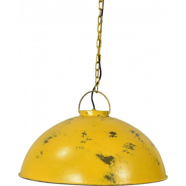 Žltá závesná lampa s patinou