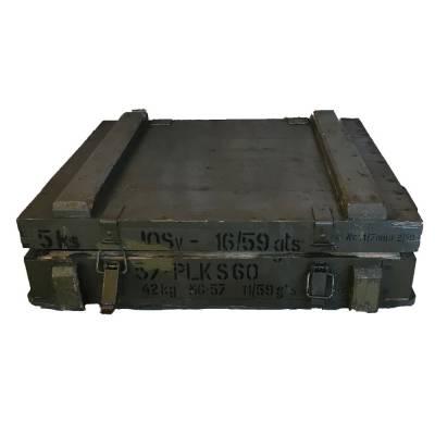 Vojenská drevená bedňa