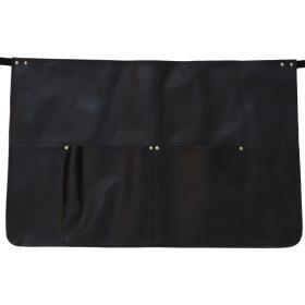 Čierna kožená zástera -...