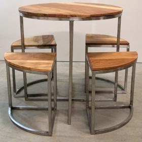 Okrúhly stôl so 4 stoličkami