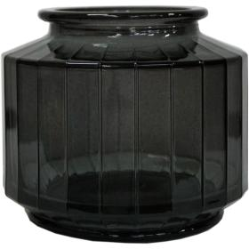 Uhlová váza - sivá - malá